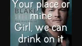 Blake Shelton - Drink On It [Lyrics On Screen]