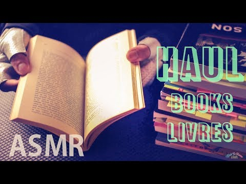 [ASMR Binaural] Haul #9 : BOOKS / LIVRES - with French whispering