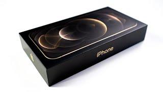 Распаковка iPhone 12 Pro Max в золоте. Самый большой, самый дорогой, самый золотой iPhone в истории