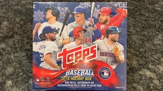 NEW RELEASE!  2018 TOPPS HOLIDAY BASEBALL (1 guaranteed autograph or relic per box)
