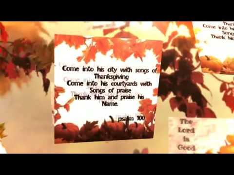 Thanksgiving bible verses slide show