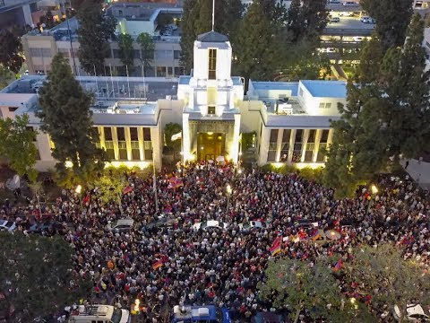 Glendale, CA streets shut down as thousands protesters take over City Hall