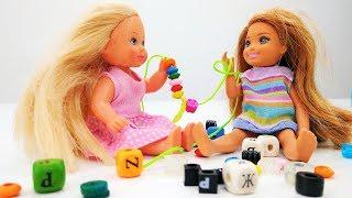 Челси и Штеффи готовят подарок для Барби. Игры для девочек