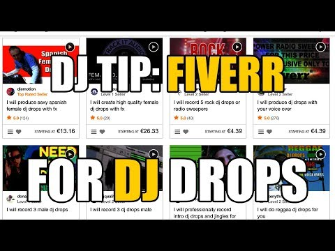 DJ tip: using Fiverr for DJ drops, logo design and more