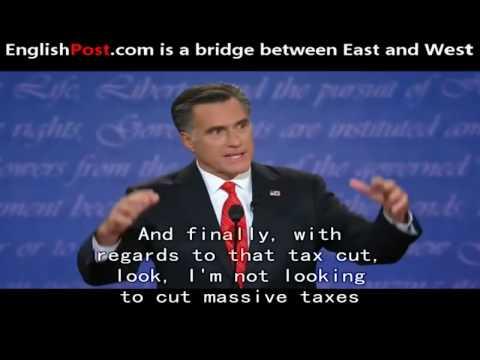English Subtitle Obama vs  Romney First Presidential Debate 2012