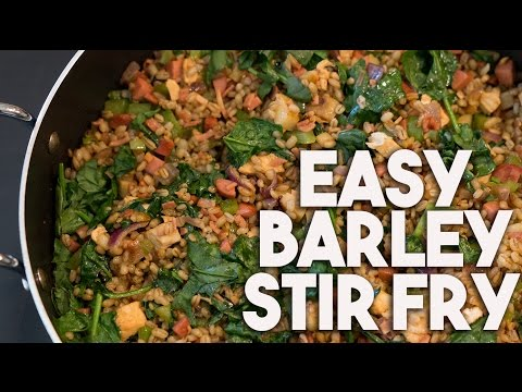 BARLEY Stir fry   Healthy Complex Carb rich   Kravings