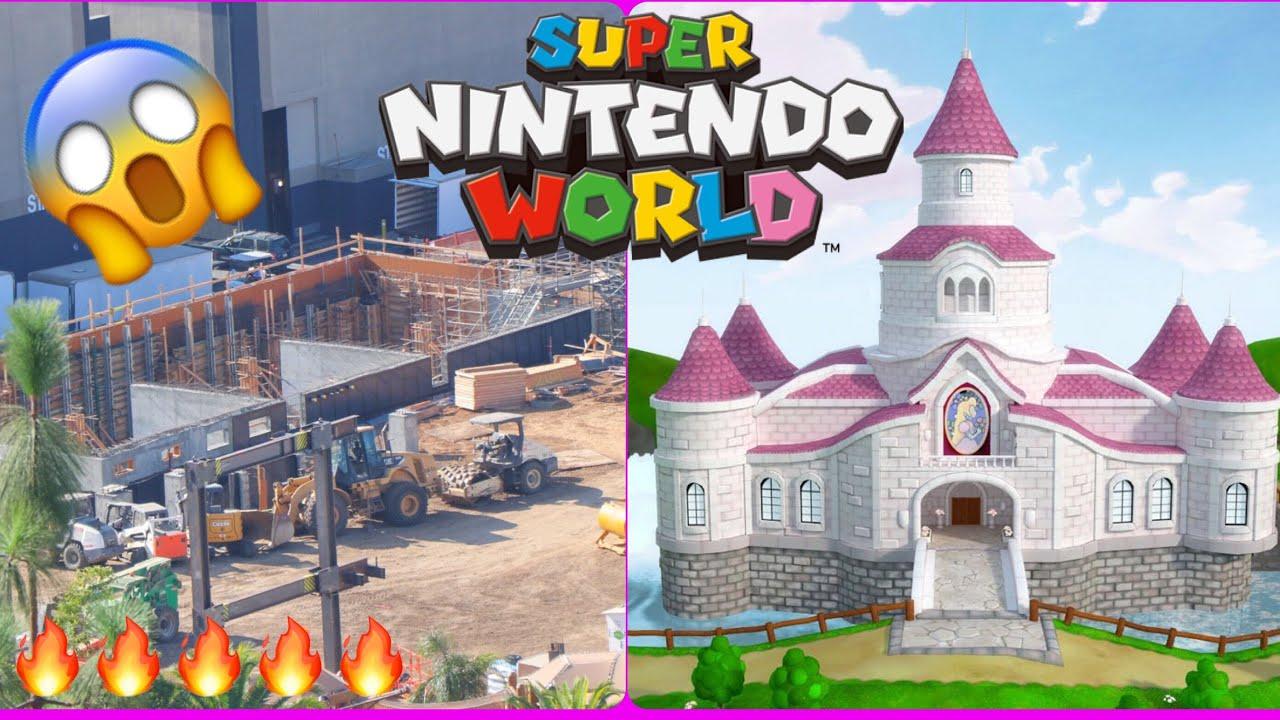 Huge Construction Universal Studios Updates Peach S Castle First Signs Super Nintendo World Youtube