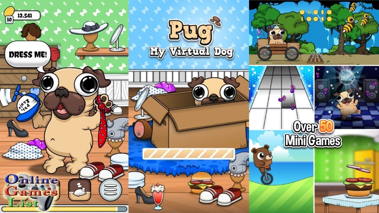 pug care game virtual pet games gamesworld 1304