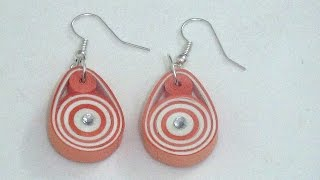 Easy & Trendy Paper Quilling Earring Making Tutorial