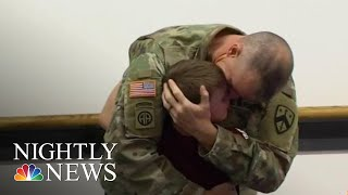 Soldier Surprises Son In Emotional Video | NBC Nightly News