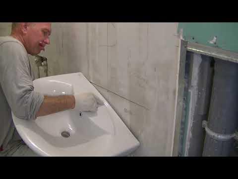 Как крепить угловую раковину к стене
