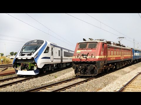 HIGH SPEED Electric Trains towards Kota Junction | Indian Railway.