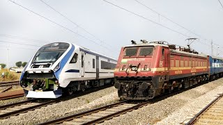 HIGH SPEED Electric Trains towards Kota Junction | Indian Railway.