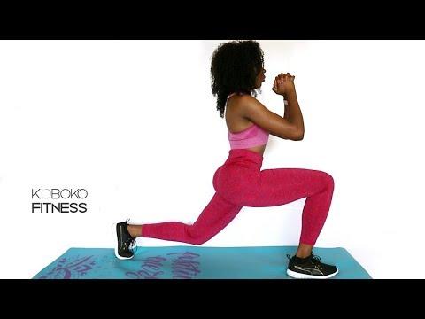 5 Min Legs Butt & Thigh Workout - in Yoruba 🤔