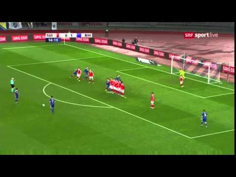 AMAZING GOAL MIRALEM PJANIC Switzerland vs Bosnia Herzegovina 0-2 - Friendly Match - 29/03/16