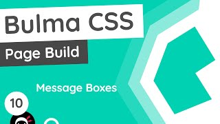 Bulma Tutorial (Product Page Build) #10 - Message Boxes