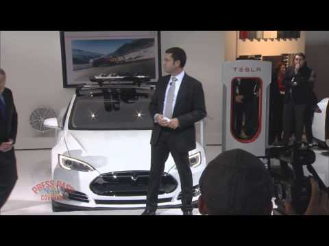 2014 Detroit Auto Show - Tesla Press Conference