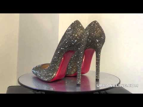 454043820e90bd Urban Bling Christian Louboutin Pigalle 120 Bronze Shade Strass ...
