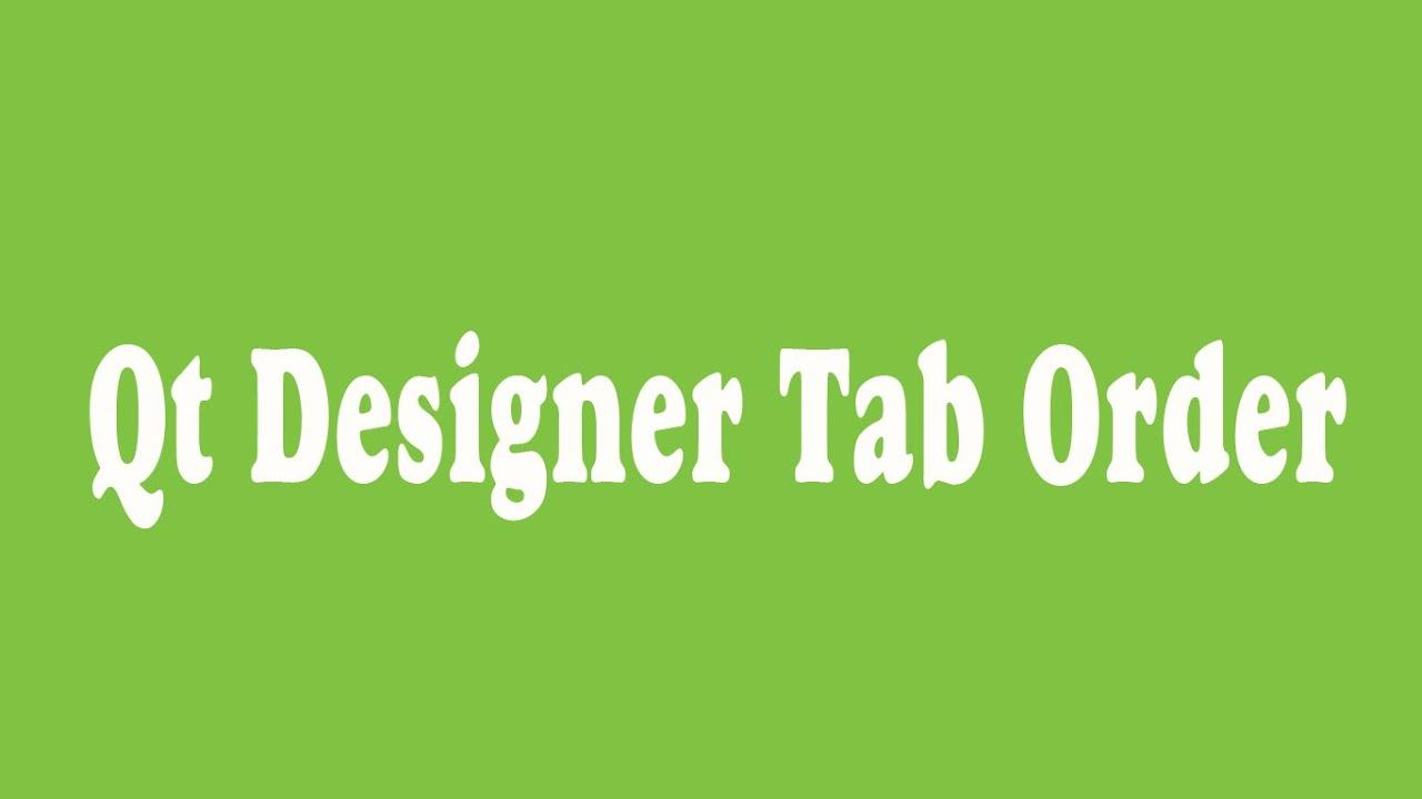 34_ Qt Designer Tab Order (Arabic)