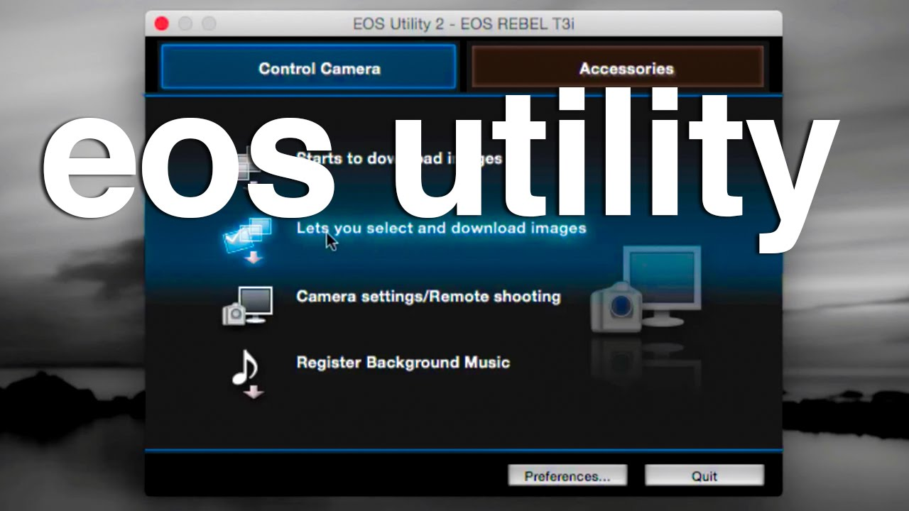 Canon EOS utility updated to work in OS X Lion