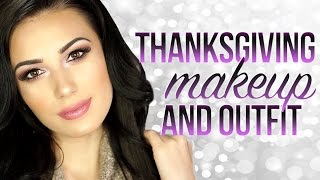 ❤️ GRWM Affordable Thanksgiving Outfit | Drugstore Makeup Tutorial | Victoria Lyn Beauty