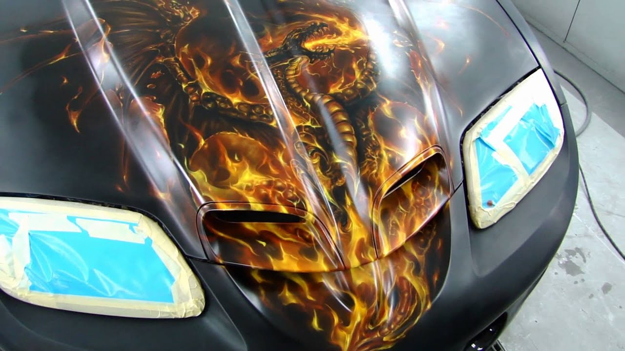 Restore A Muscle Car >> Mike Lavallee Painting the 1999 Trans Am - YouTube