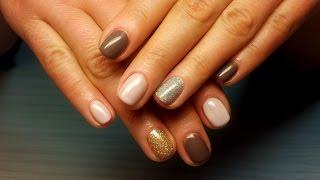 Дизайн ногтей гель-лак Shellac - Дизайн ногтей блестками (уроки дизайна ногтей) Nail art Tutorial