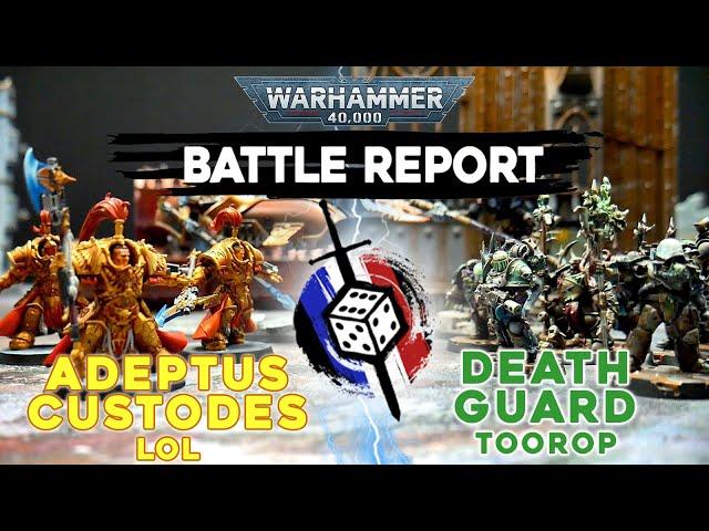 RAPPORT DE BATAILLE WARHAMMER 40.000 - Custodes VS Death Guard