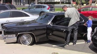 Ben Affleck Takes Son Samuel For A Ride In His Classic Cadillac DeVille