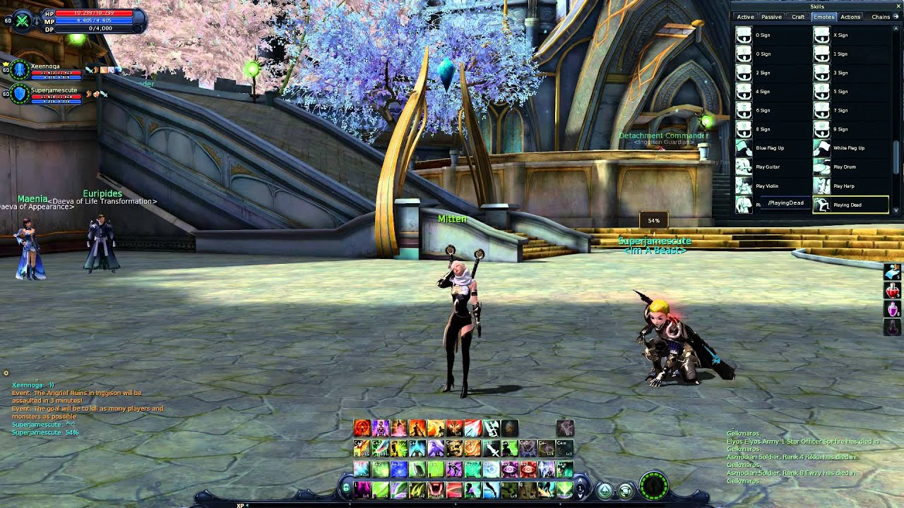 Aion - Playing Dead emote