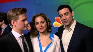 ALLEGIANCE Gavin Stenhouse, Margarita Levieva, & Morgan Spector NBC Upfronts TV Interview