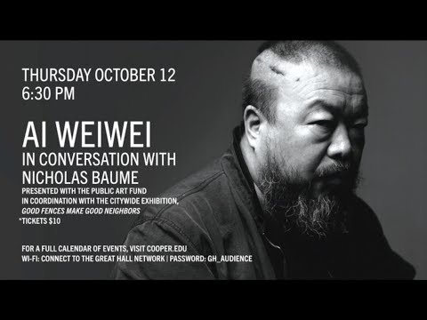 Artist Ai Weiwei - Live at the Great Hall