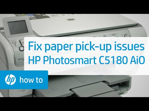Fixing Paper Pick-Up Issues - HP Photosmart C5180 All-in-One Printer