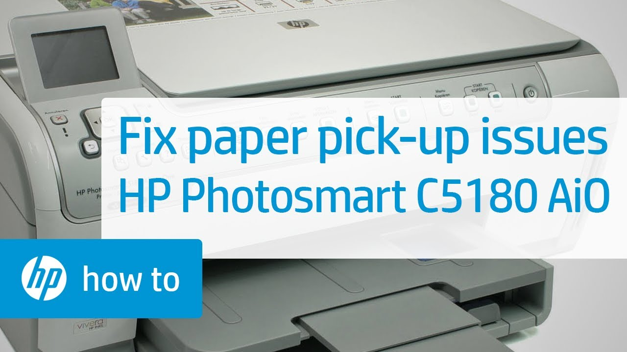 fixing paper pick up issues hp photosmart c5180 all in one printer rh youtube com hp 8250 printer manual hp photosmart 8250 instruction manual