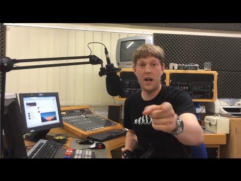 UK Radio DJ 'Jocks Up' Rock & Blues tunes live on air