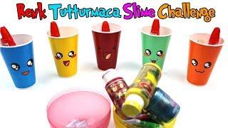Kawai Bardak Renk Tutturmaca Slime Challenge | Yaramaz Buse Slime'larımı Bozdu! 😡 | Bidünya Oyuncak
