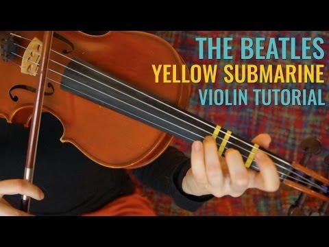 Yellow Submarine  - The Beatles | Easy Beginner Song | Violin Tutorial