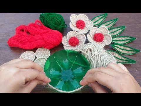 simple-jute-flower-and-flower-vase-showpiece-  -diy-home-decor-jute-burlap-craft-ideas