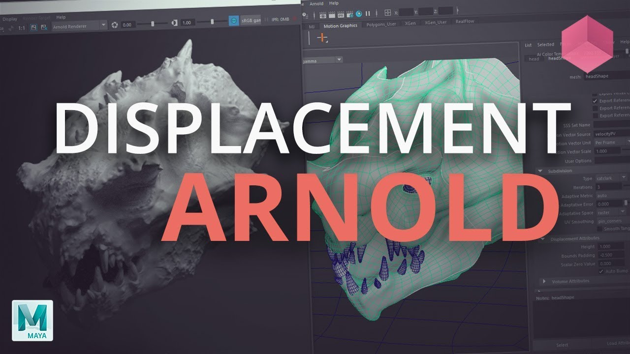 Export displacement map from Zbrush to Arnold
