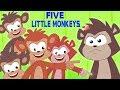 пять маленьких обезьян | Five Little Monkeys | Kids Rhymes Russia | русский мультфильмы для детей