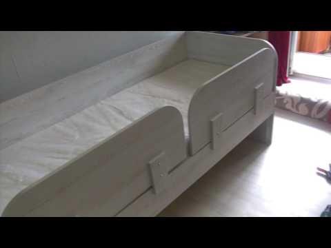Детская двухместная кровать со съёмным бортиком