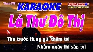 Lá Thư Đô Thị Karaoke 123 HD (Tone Nữ) - Nhạc Sống Tùng Bách