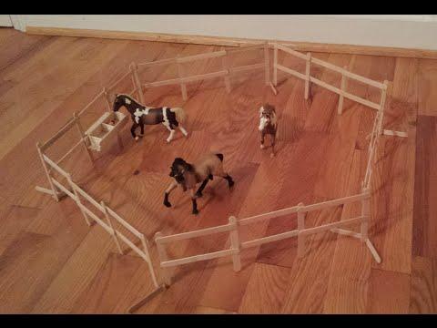 how-to-make-schleich-/-breyer-freestanding-horse-fencing.