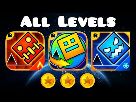 Geometry Dash Meltdown, World And Subzero ALL LEVELS + ALL COINS