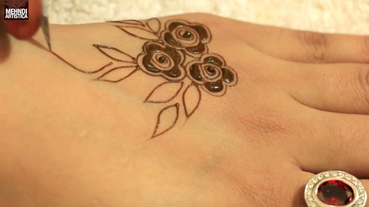 Eid Special Henna Design 2017 Beautiful Girlish 3 Mints Henna