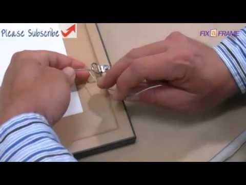 How To Screw D Rings Tie Wire On A Picture Frame Youtube