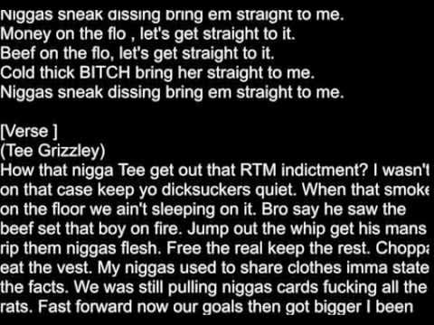 Tee Grizzley Ft Bandgang - Straight To It ( Lyrics On Screen)