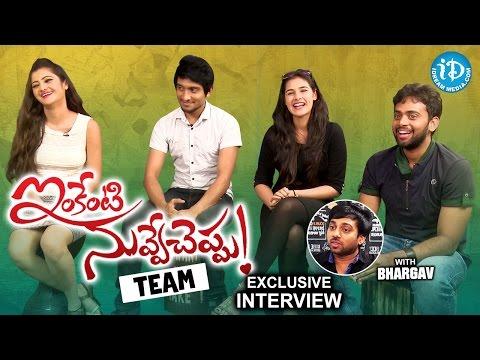 Inkenti Nuvve Cheppu Movie Team Exclusive Interview || Talking Movies With IDream #279