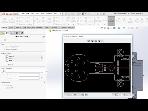 How to Quickly Create DXF Exports in SolidWorks (without drawings)