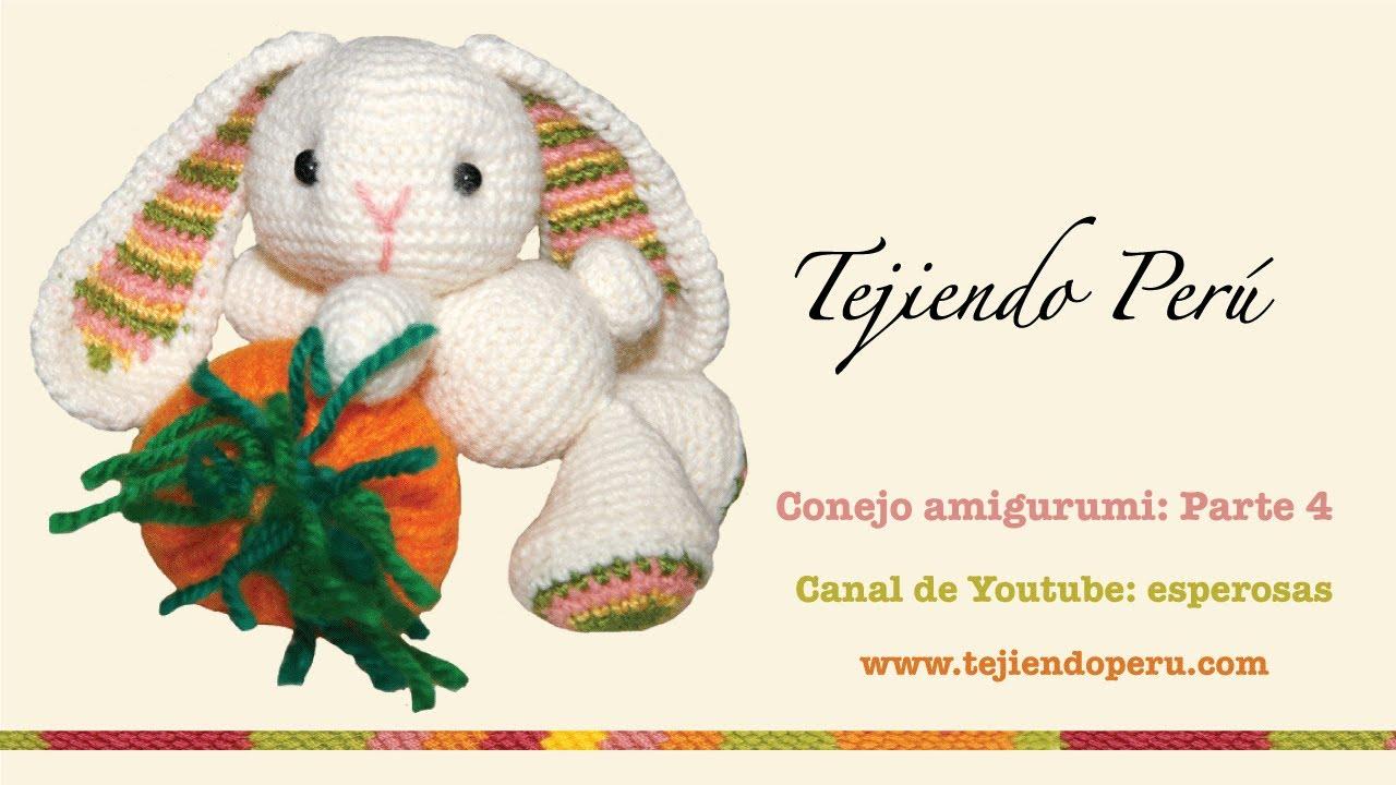 Conejo amigurumi (Parte 4: tejiendo las orejas) - YouTube